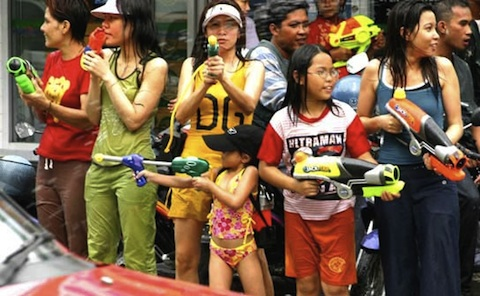 Songkran Girls Playing