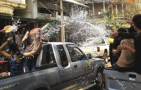 Songkran Pickup Water Gang
